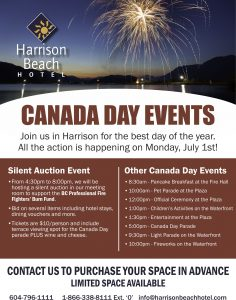 Canada Day Silent Auction @ Harrison Beach Hotel